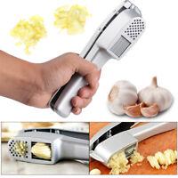 2 in 1 Set Stainless Steel  Kitchen Garlic Slice & Press Crusher Squeezer Masher