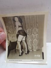 Vintage Irving Klaw Photo S-568 B&W Pin Up Stockings Underwear Risqué Brunette