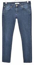 Topshop Skinny BAXTER Dark Blue Low Rise Stretch Jeans Size 14 W32 L30