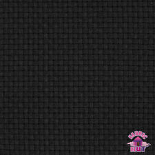 "140127075 - Monks Cloth 8 Count Black Cotton 60"" Fabric by the Yard 4x4 Weave"