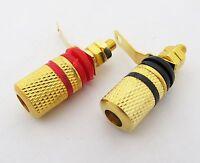 10 x Amplifier Speaker Binding Post Long gold copper solder Terminals Connectors
