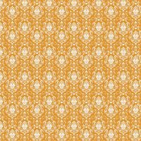 Happy Halloween ORANGE Damask by Patrick Lose 100% cotton fabric by the yard