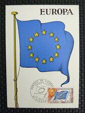 FRANCE CONSEIL EUROPE MK 1969 EUROPARAT MAXIMUMKARTE CARTE MAXIMUM CARD MC c4356
