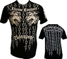 AFFLICTION Xtreme Couture Rampage Jackson Mens XXL Chains Wolf T shirt UFC Tee