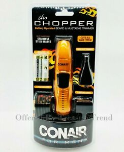 The Chopper Beard & Mustache Trimmer By Conair For Men 6 Pc W/ Ear and Nose