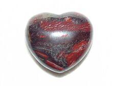 Premium Red Snakeskin Jasper Mineral Stone Heart  07