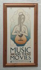 David Lance Goines b1945 large original plate signed print Music & The Movies