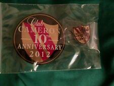 SCOTTY CAMERON 2012 CLUB CAMERON STICKER & PIN BRAND NEW 10TH ANNIVERSARY SHIELD
