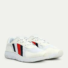Sneaker Tommy Hilfiger scarpette tela bianco scarpe uomo moda man shoes FM02599