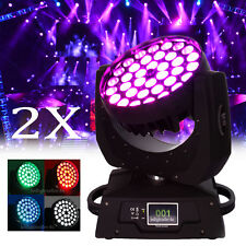 2x 360W LED Zoom Moving Head Light 36 x 10W RGBW 4in1 DMX 16Ch Club Party Stage