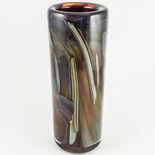 """Rochester Folk Art Guild (New York) Studio Art Glass """"Swirls of Color"""" Tall Vase"""