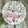 DecoWords Mini Wood Gift Sign Plaque Much Loved Step Mom Ornament  Family USA