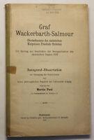 Paul Graf Wackerbarth- Salmour 1912 Geschichte Sachsen Kurprinzen sf
