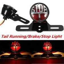 LED Side Mount License Plate Brake Stop Tail light Bracket For Harley Bobber US