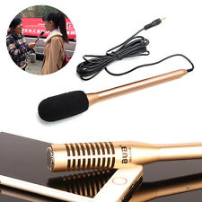 Interview Record Microphone Mic 3.5mm Jack for Cellphone Iphone Android Phone