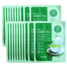x 20 Sheets TONYMOLY Green Tea Mask Sheet 100% Pure Green Tea Ferment Extract