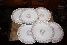Antique Limoges Elite Salad Plates-6 Plates-Pink Roses-Higgins & Seiter NY