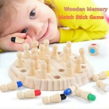 Children Wooden Memory Block Board Game Educational Color Cognitive Ability Toy
