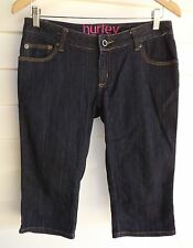 Hurley Women's Blue Cropped Jeans - Size 10
