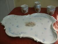 Bellissimo Set Ceramica VASSOIO + Due TAZZE + LATTIERA Dec. Bambini, Children