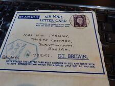 RAF WW2 DESERT CAMPAIGN LETTER FROM  F/O GEOFFREY WRIGHT AFTER CRASH 41