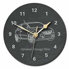 Vauxhall Corsa Design Slate Clock - Personalised with text of your choice (La...