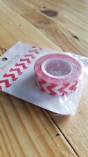 "Queen & Co Washi Trendy Tape! ""Chevron Red"" 10 yards each roll!"