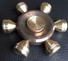 RUOTA IN OTTONE MASSICCIO metallo Dito Mano Spinner Fidget Filatura giocattolo CUSCINETTO IN ACCIAIO