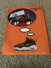Vintage 1997 NIKE AIR HYPE UPTEMPO Basketball Shoes Poster Print Ad 1990s RARE