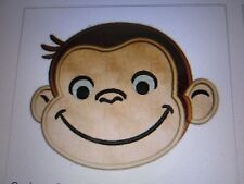 Iron on embroidered applique- Curious George-2 ea. 2.8x3.5 in.