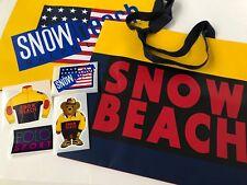 RALPH LAUREN POLO [SNOW BEACH] BAG & 4 STICKERS SHOPPING 1993 POLO BEAR SPORT