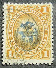 Chile occupation in Peru 1881/82 Peru Stamps Overpt 1C orange, Mi #1 used