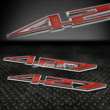 2X METAL BUMPER TRUNK GRILL EMBLEM DECAL STICKER BADGE CHROME/RED 427 Z06 C6