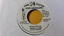 """Daweh Congo - Kings of Kings /Roots Reggae 45""""  on jah Youth  Label orig,"""