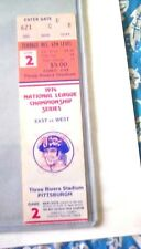 1974 NLCS TICKET GAME 2 LOS ANGELES DODGERS PITTSBURGH PIRATES 3 RIVERS STADIUM