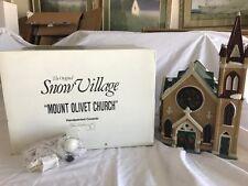 Dept 56~Snow Village Mount Olivet Church Handpainted Ceramic~#5442-9