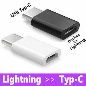 Adapter für iPhone Lightning Buchse auf USB Typ C Laden Daten Konverter übertrag