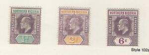 Northern Nigeria, Postage Stamp, #19a, 21, 24 WMK 3Mint Hinged, 1905, JFZ