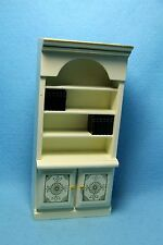Dollhouse Miniature Bookcase in Cream and Gold ~ WF211-4