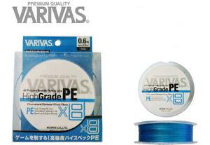 VARIVAS High Grade X8 PE #0.6#0.8#1#1.2#1.5#2 - 150m Braid PE Line Premium JAPAN
