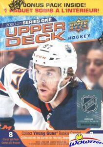 2020/21 Upper Deck Series 1 Hockey HUGE Factory Sealed Blaster Box-YOUNG GUN RC