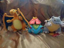 Pokemon Centre London Exclusive Charizard, Venusaur, Blastoise Plush bundle