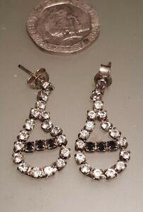 Vintage Earrings Ladies Rhinestone