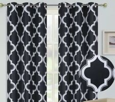 2 Grommet Panel Lined Blackout tiers window curtain for any Small Window # D24