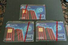 1996 $5, $25 & $50 - VISA CASH CARD SET - VANCITY BANK - CANADA - RARE - MINT