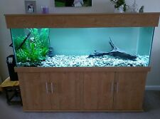 """Tropical Aquarium 72""""x24""""x24"""" Fish Tank 6x2x2ft with Cabinet, Any Size Available"""