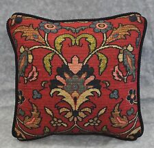 Ralph Lauren Poet's Society Tapestry Fabric Custom Pillow 12x12 with cording NEW