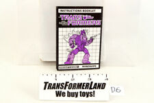 Mindwipe Instructions Headmasters 1987 Hasbro G1 Transformers Action Figure