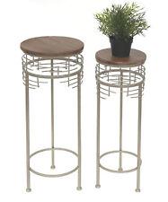 Blumenhocker Metall 21288 2er Set Blumenständer Rund Beistelltisch Modern Hocker