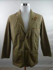 Mens Orvis Zambezi Twill Safari Jacket Sport Coat Leather Elbow Patches Sz S 38R